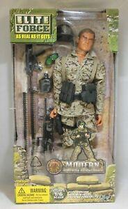 "BBI Elite Force Modern 1/6 12"" Figure Modern USMC Machine Gunner Blue Box Toys"