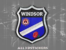 3D Emblem Sticker Resin Domed Flag Windsor - Adhesive Decal Vinyl
