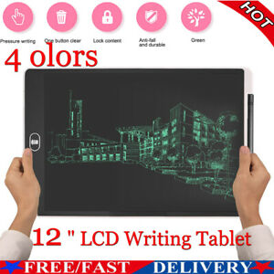 """12"""" Electronic Digital LCD Writing Pad Tablet for Kids Board Drawing Graphics"""