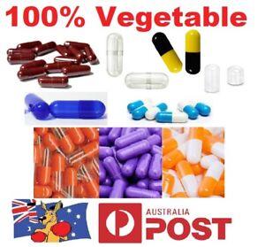 💊Size 1 2 3 4 0 00 000 Empty Vegetable Capsules Medicine Pill Vitamins Med Drug