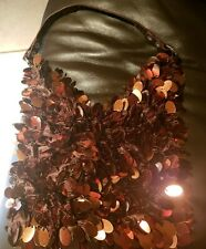 Copper Beaded Party Bag Purse