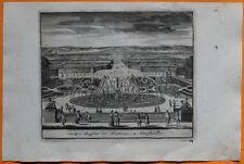 VAN DER AA Gravure originale c1725 LE BASSIN DE LATONE À VERSAILLES