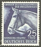 DR Nazi 3rd Reich Rare WW2 Stamp Hitler's Horse Racing Grand PRIZE Deutschland