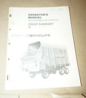 Sperry New Holland Crop Carrier 8 W Assembly Info Operator's Manual P/N 43000815