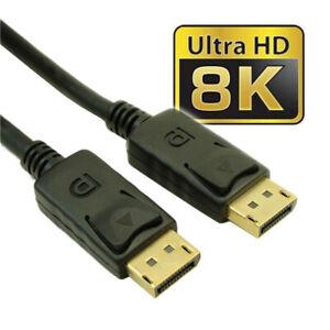 3ft DisplayPort to DisplayPort (v1.4/8K@30)  Male/Male  28AWG  Gold Plated