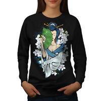 Wellcoda Japanese Girls Womens Sweatshirt, Beauty Casual Pullover Jumper