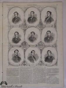 Atlantic Baseball Club Brooklyn Champion Nine Original Harper's Weekly 1865