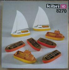 Kibri 8270 h0 1:87 4x barche a remi 2x barche a motore 2x IMBARCAZIONI A VELA rarità