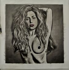 Huge Lady Gaga nude (#1 of pair) Painting in Artists Oils on canvas by J. BLAH
