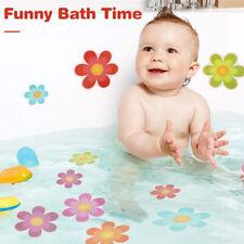 10Pcs Bathtub Anti Slip Stickers Adhesive Flower Decals Baby Funny Bathing Toys