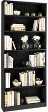 Maine Tall Wide Bookcase - Black Ash