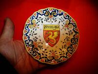 Ancienne Petite Assiette Armoiries au Dragon de Pérouges Ambérieux : Rouen ?