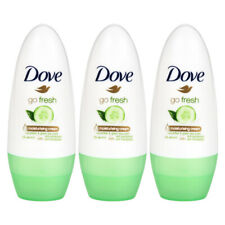 3 x DOVE ROLL ON Go Fresh Cucumber & Green Tea Anti-Perspirant for Underarm 50Ml