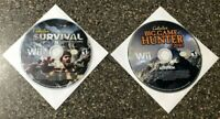 Cabela's 2 Game Bundle (Nintendo Wii) Survival + Big Game Hunter 2010 - Tested