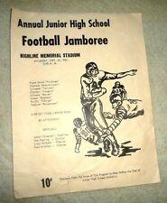 VINTAGE PROGRAM BURIEN WA FOOTBALL JAMBORE PUGET SOUND MUSTANGS CHINOOK  1962