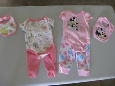 2 New Baby Girl Disney 3 Piece Outfit Sets - Minnie & Winnie the Pooh 3-6 mo