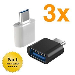USB Adapter Stecker USB C 3.1 auf USB A 3.0 OTG Huawei MacBook Laptop Tablet NEU