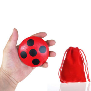 Ladybug Yo-Yo Wood Kids Yoyo Gifts Classic Toy Red