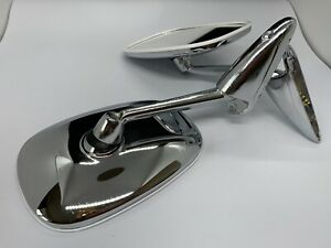Classic Car Chrome Mirror Door Fender R L Peugeot 504 404 Cabriolet Coupe Break