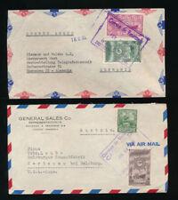 Venezuela, 2 Briefe aus 1949 und 1950 nach München und Salzburg  ( H10)