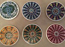 6 NEOFITOU KERAMIK HANDMADE COASTERS Tile Art Greece