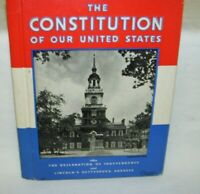 The Constitution of the United States 1936 Rand McNally Co & Gettysburg Address
