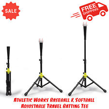Athletic Works Baseball & Softball Adjustable Travel Batting Tee, Delivery Size