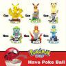 Pokemon Series Mini Figure  Eevee Pikachu Squirtle bulbasaur Fit MiniFigures