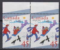 Canada #1627as 45¢ UNICEF and Christmas Pair from Booklet Mint Never Hinged