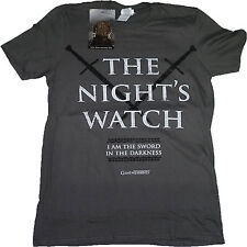 Game of Thrones T-Shirt OFFICIAL The Wall Night's Watch Jon Snow Charcoal