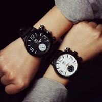 Fashion Men Women Watch large Dial Silicone Quartz Sports Analog Wrist Watches