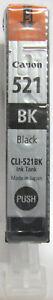 Canon CLI-521Bk Genuine Black Cartridge. New & Sealed.