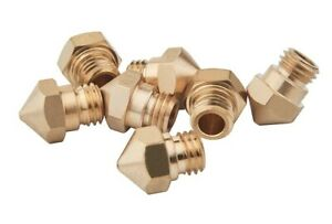 MK10 Brass Nozzle 0.4mm, 0.6mm 1.75mm for 3D printer M7 thread