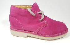 Clarks Originals infant girls pink suede leather desert boots uk 11G
