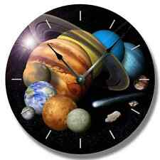 SOLAR SYSTEM Pattern Wall CLOCK - Celestial Outer Space Home Decor - 7144