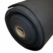 1/4'' Neoprene 60 Durometer Black Smooth Finish, 4ft x 15ft