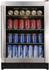 Magic Chef Beverage Cooler 154 (12 oz.) Can Soda Wine Beer Water Stainless Steel