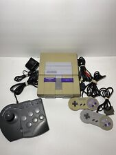 Super Nintendo SNES Console bundle w/ 2 controllers and Fighter Stick SN tested