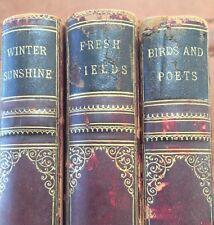 Scarce John Burroughs Books Winter Sunshine Birds & Poets Fresh Fields Ornate