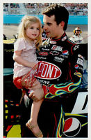 Jeff Gordon Autograph Signed Photo with Daughter NASCAR Racing Champion Driver