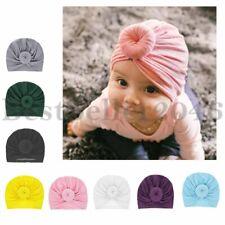 6-8pcs Baby Knot Headbands Elastic Head Wrap Toddlers Soft Turban Knot Bow Cap