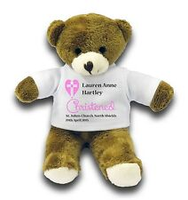 "Personalised Christening Bear Gift 7"" Teddy Bear - Pink"