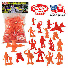 TimMee Processed Plastic GALAXY LASER TEAM: 50 Tim Mee STAR PATROL Space Figures