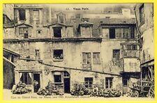 cpa Vieux PARIS COUR de l' HÔTEL du CHEVAL BLANC Rue MAZET vers 1900 REMPAILLEUR