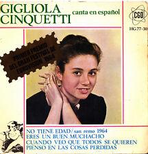 GIGLIOLA CINQUETTI (CANTA EN ESPAÑOL)-NO TIENE EDAD (SAN REMO 1964) + ERES UN