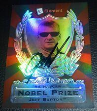 Jeff Burton Signed 2009 Element Nobel Prize Mr NASCAR Card #NP4 PSA/DNA COA Auto
