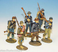 Frontline Figures: ACI.9, Civil War, Confederate Troops Marching-1 (6 soldiers)