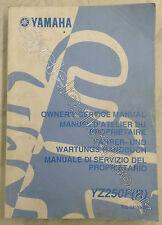 Yamaha YZ250F 2003 Genuine Service Manual Part No 5UL-28199-30