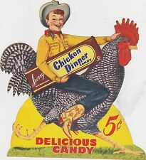 VINTAGE SPERRY'S CHICKEN DINNER CANDY - UNUSED advertising DECAL -