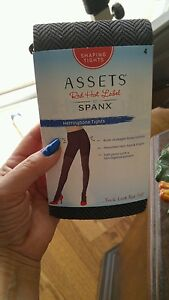 """WOMENS ASSETS RED HOT LABEL SPANX TIGHTS  5'0""""-6'0""""  ( BROWN )"""